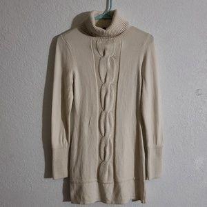 INC long cream sweater Medium
